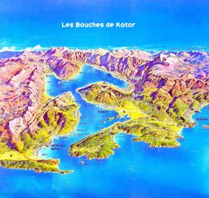 cartes des Bouches de Kotor