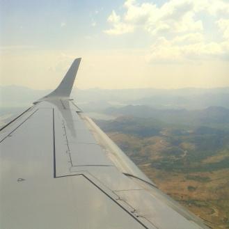 Arrivée en avion à Podgorica